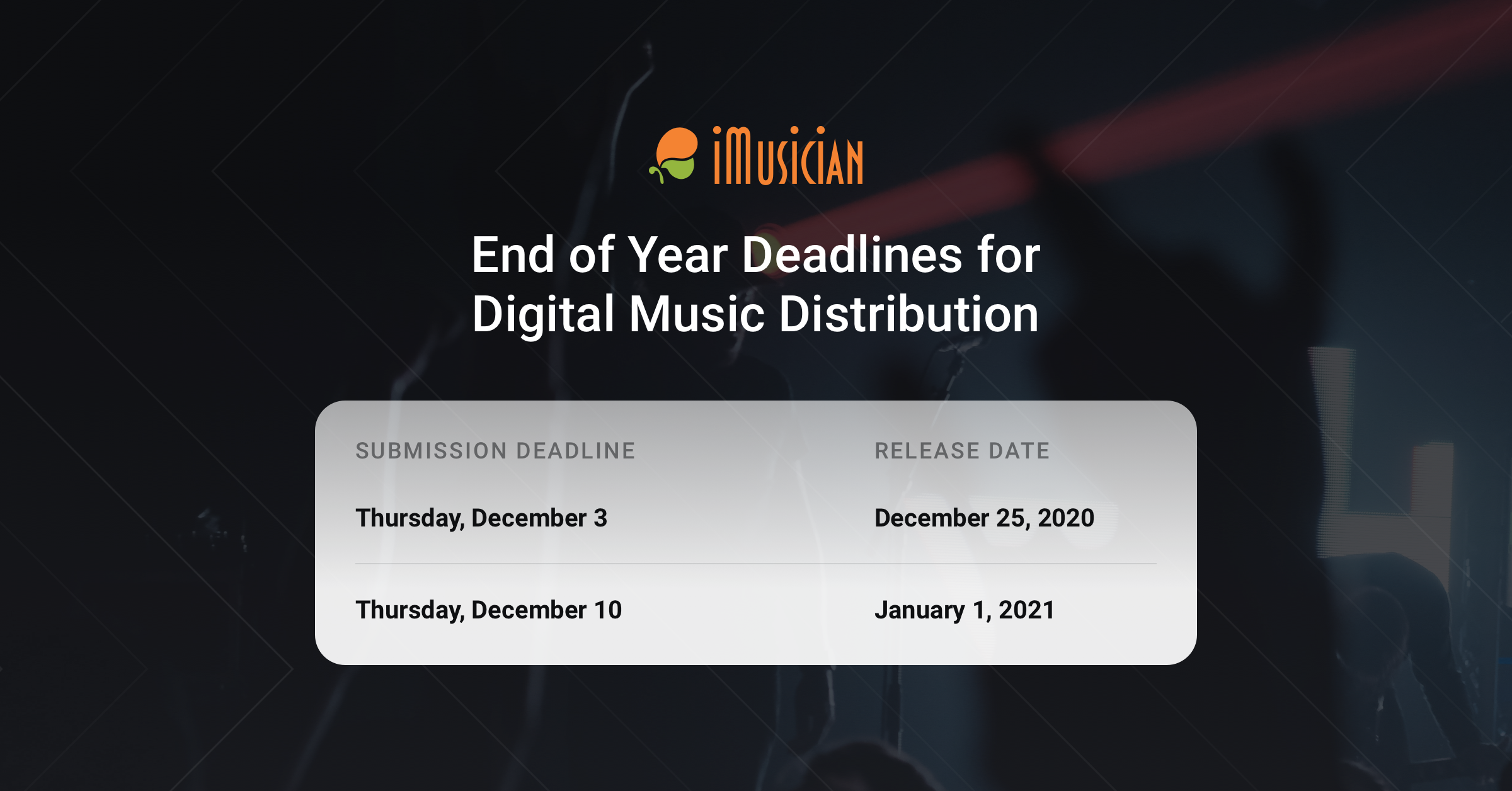 End of the year deadlines