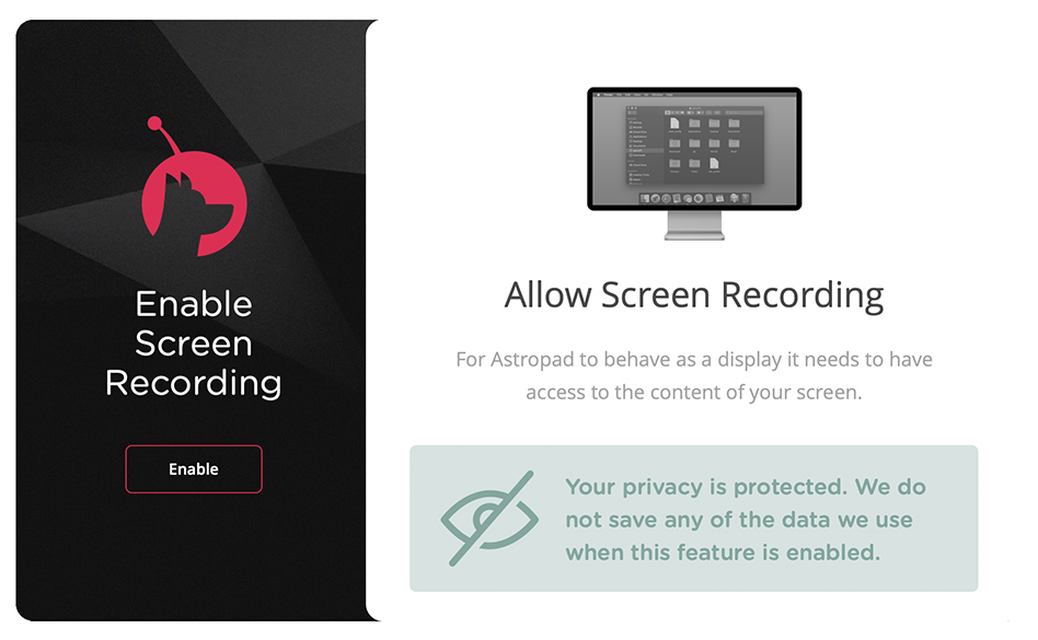 Astropad Studio - Enable Screen Recording