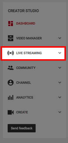Enabling youtube now switcher inc knowledge base click get started to enable live streaming on your youtube account ccuart Images