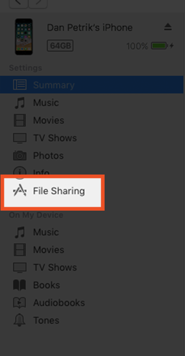Moving Files Using iTunes - Switcher Inc  Knowledge Base