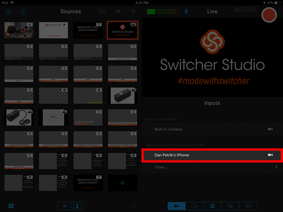 Connecting Cameras - Switcher Inc  Knowledge Base