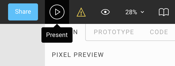 Viewing Prototypes with Presentation View - Figma