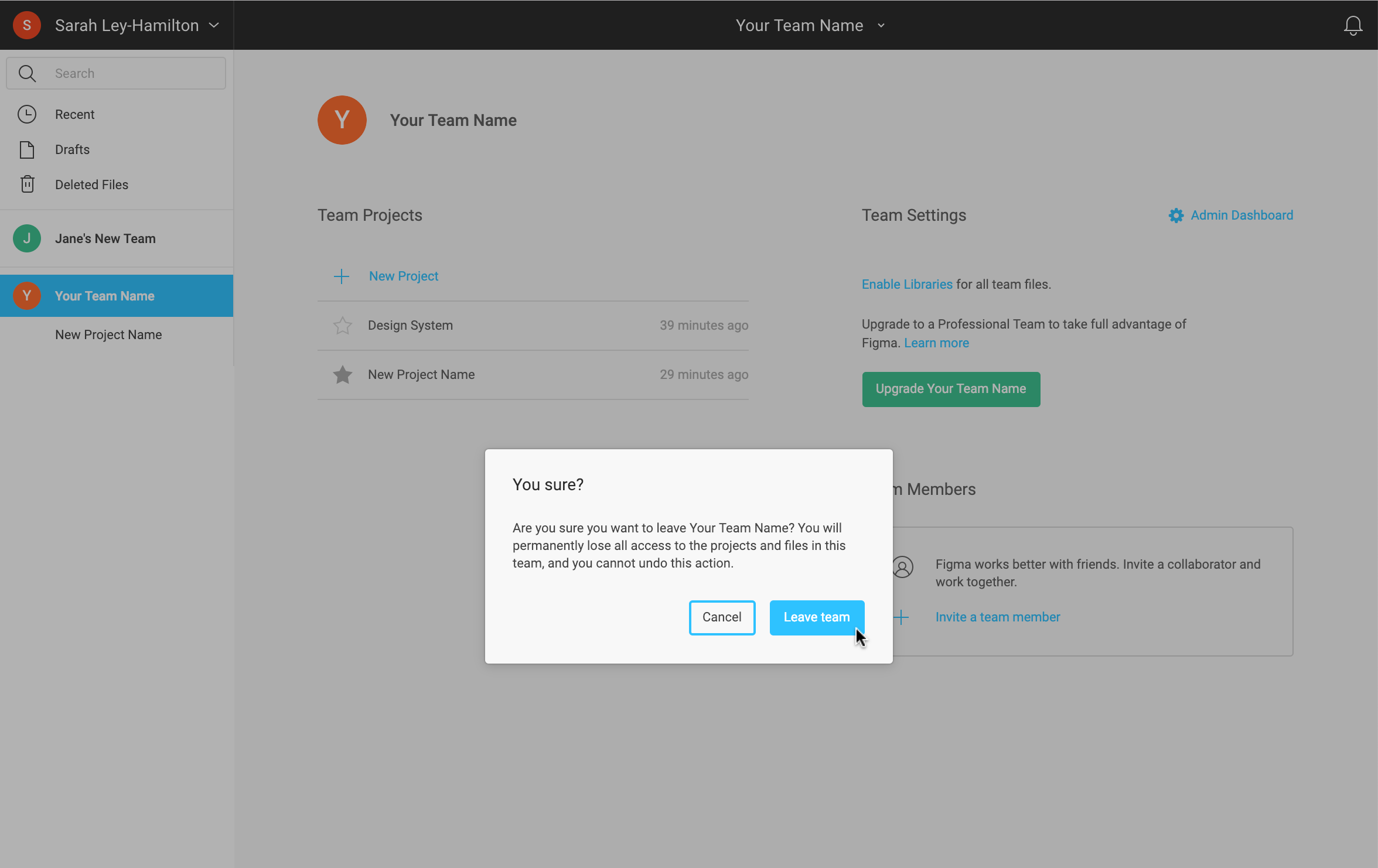 Managing your Team - Figma