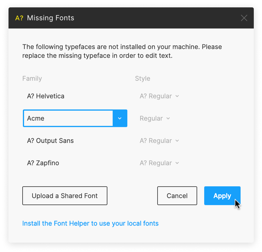 Working with Fonts - Figma