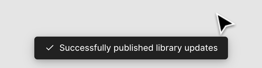 Notitication for successfully published Library