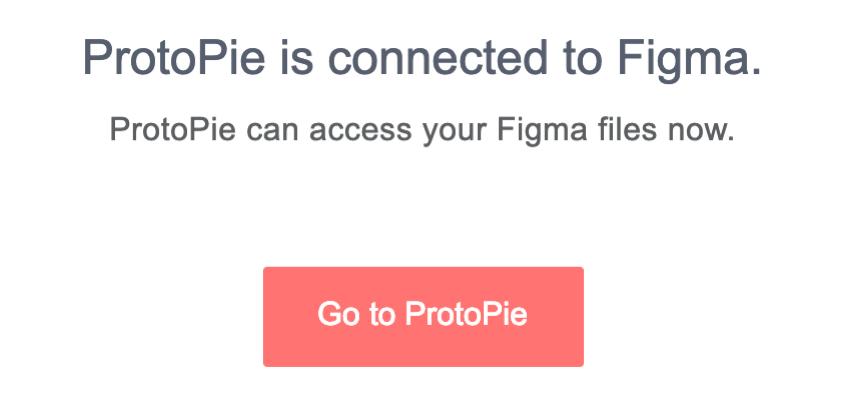Click the Go to ProtoPie button to go back to ProtoPie