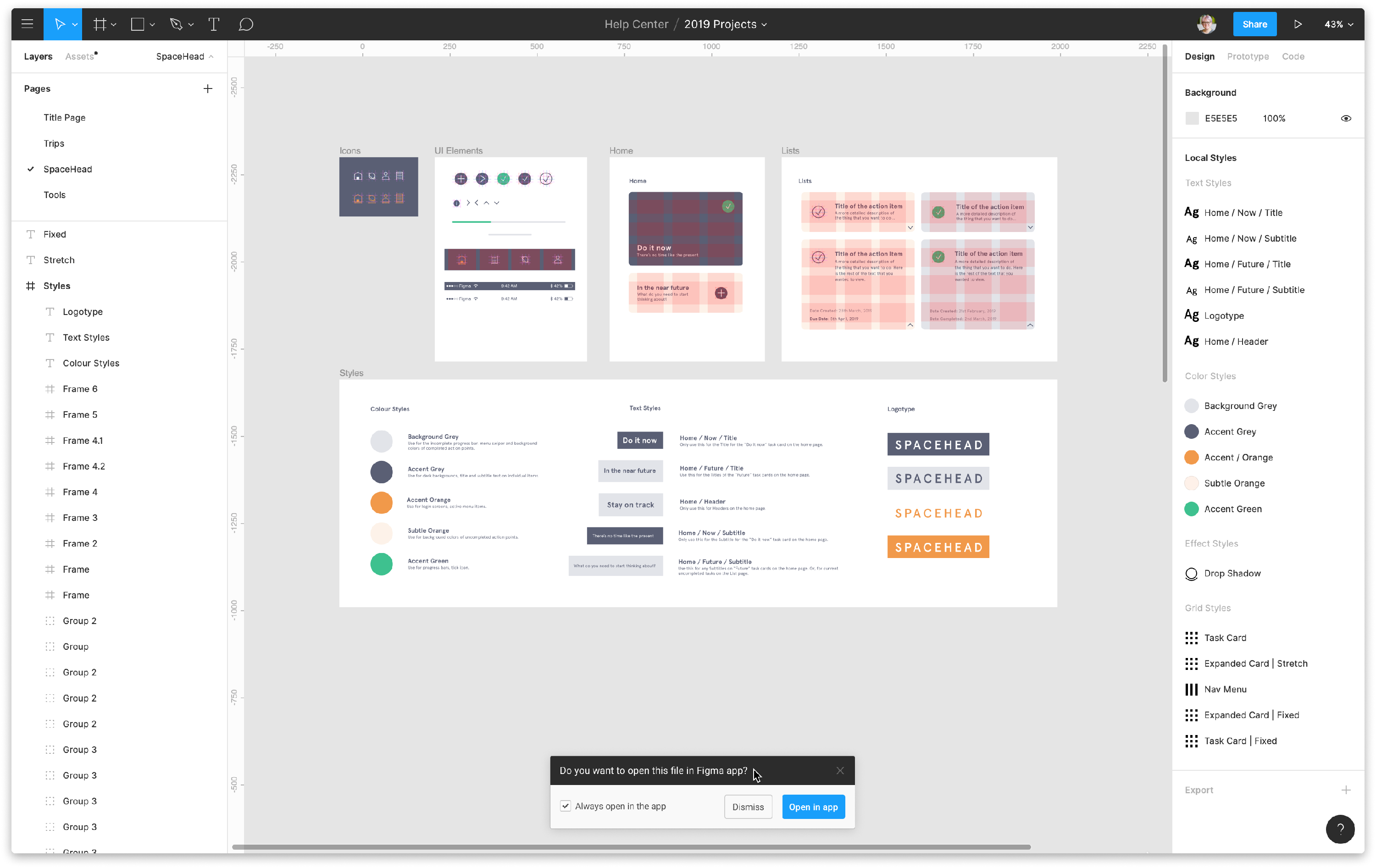 mobile app wireframe tool: Figma