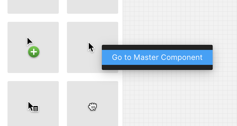 Right click menu on Master Component in Assets Panel
