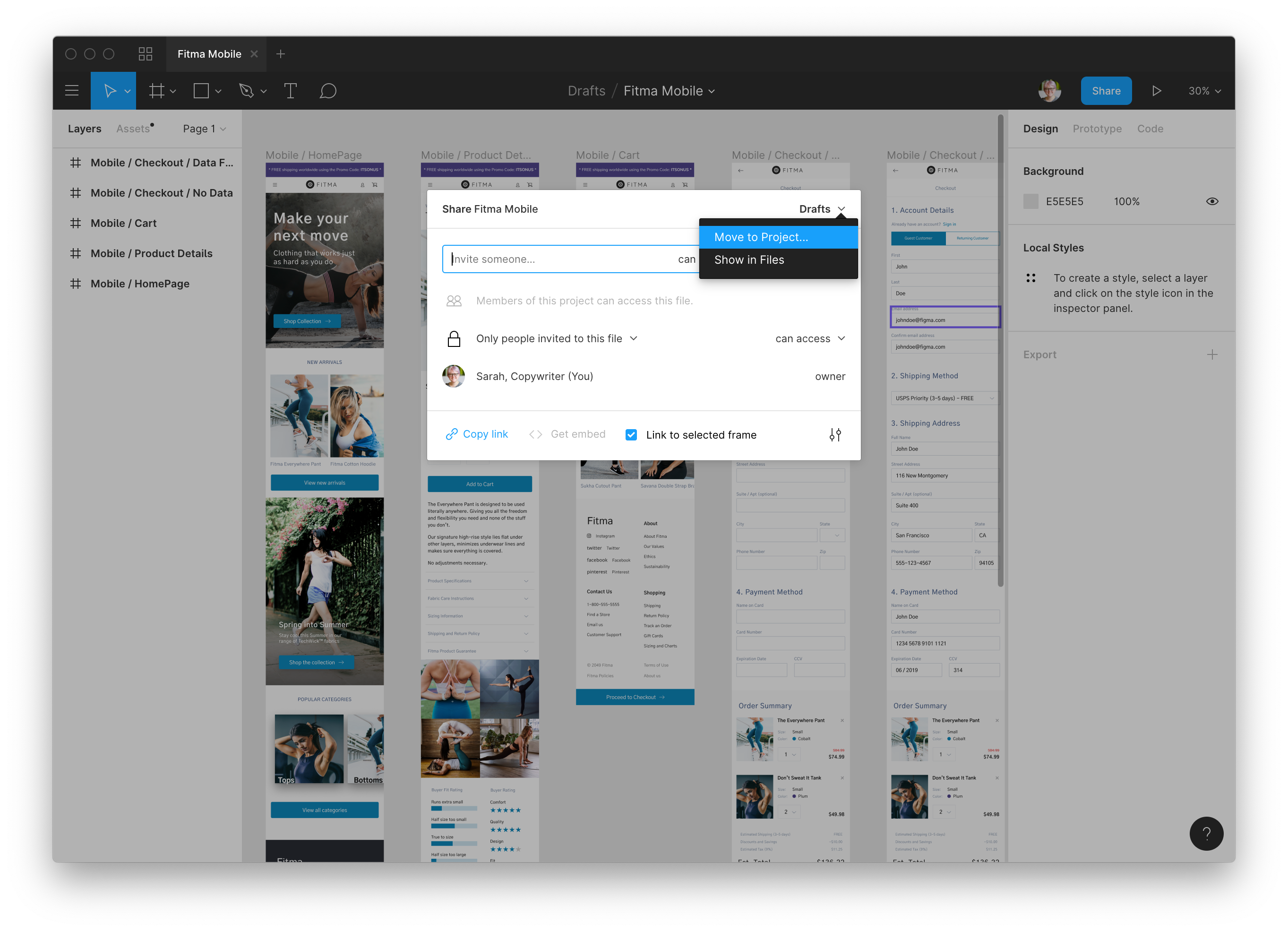 Working with Files - Figma