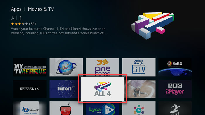 How to Watch Channel 4's All 4 App on Fire TV - Privacy Hero