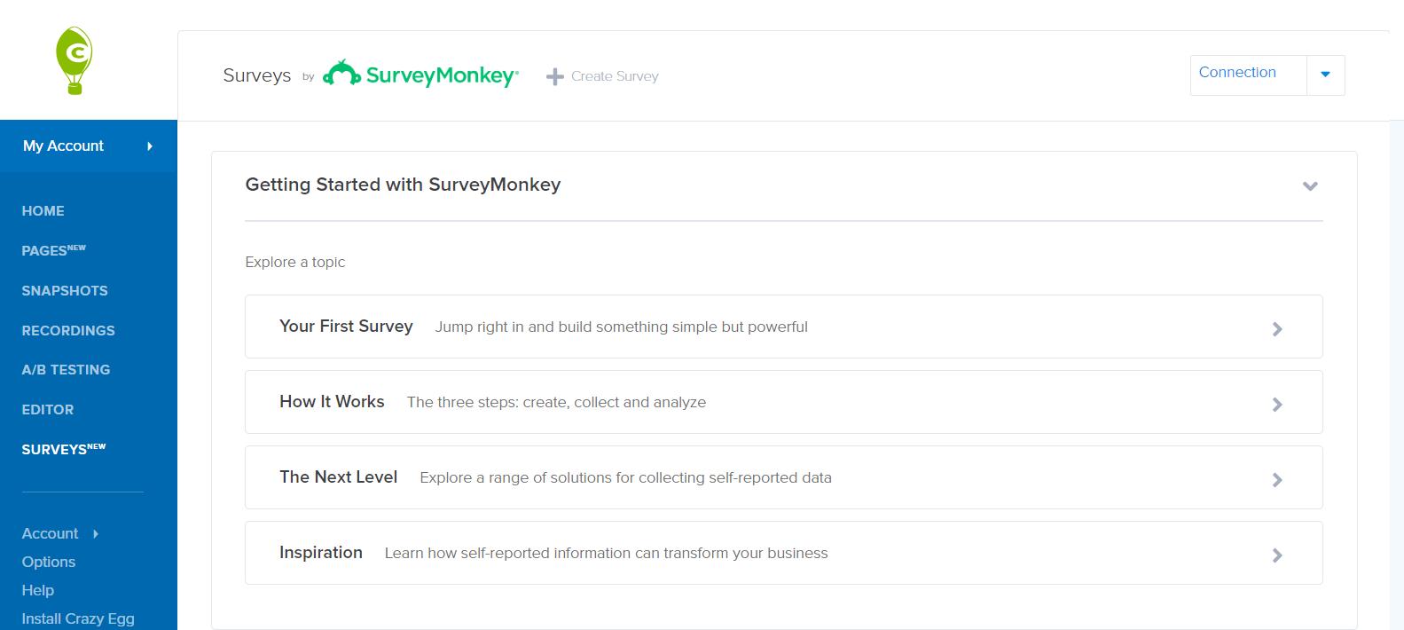 SurveyMonkey Integration - Crazy Egg   Help Center and