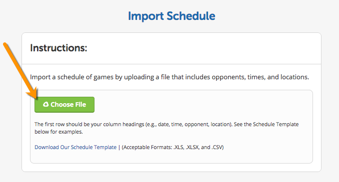 Import Schedule For Teams The Teamsnap Playbook
