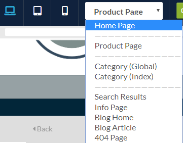 Content Builder Page Selection