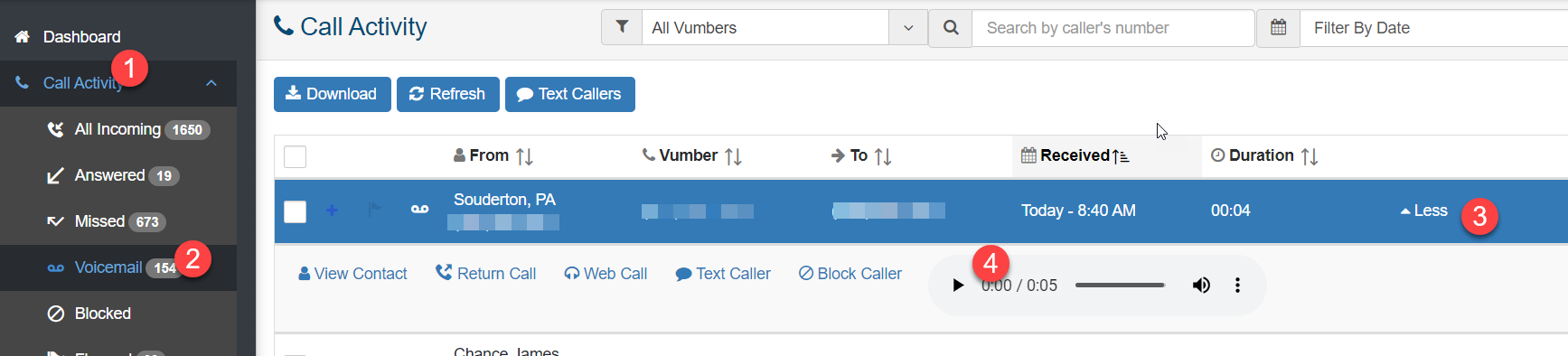 how to listen to voicemail fido