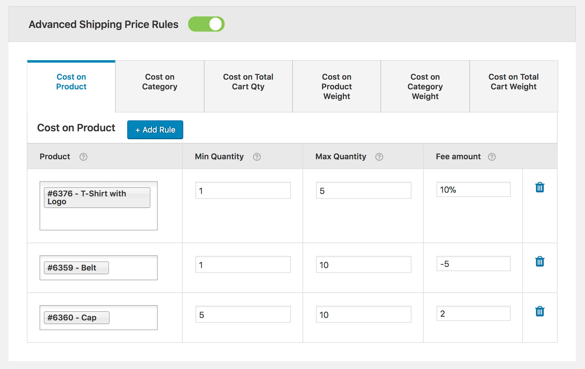 How to set range based shipping method with advanced pricing rules