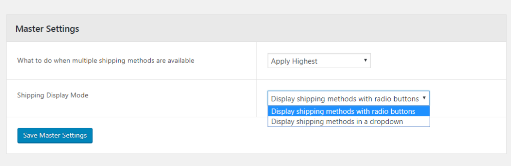 Shipping Display Mode