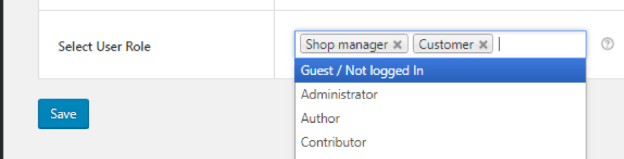 User-specific quick checkout option enabled