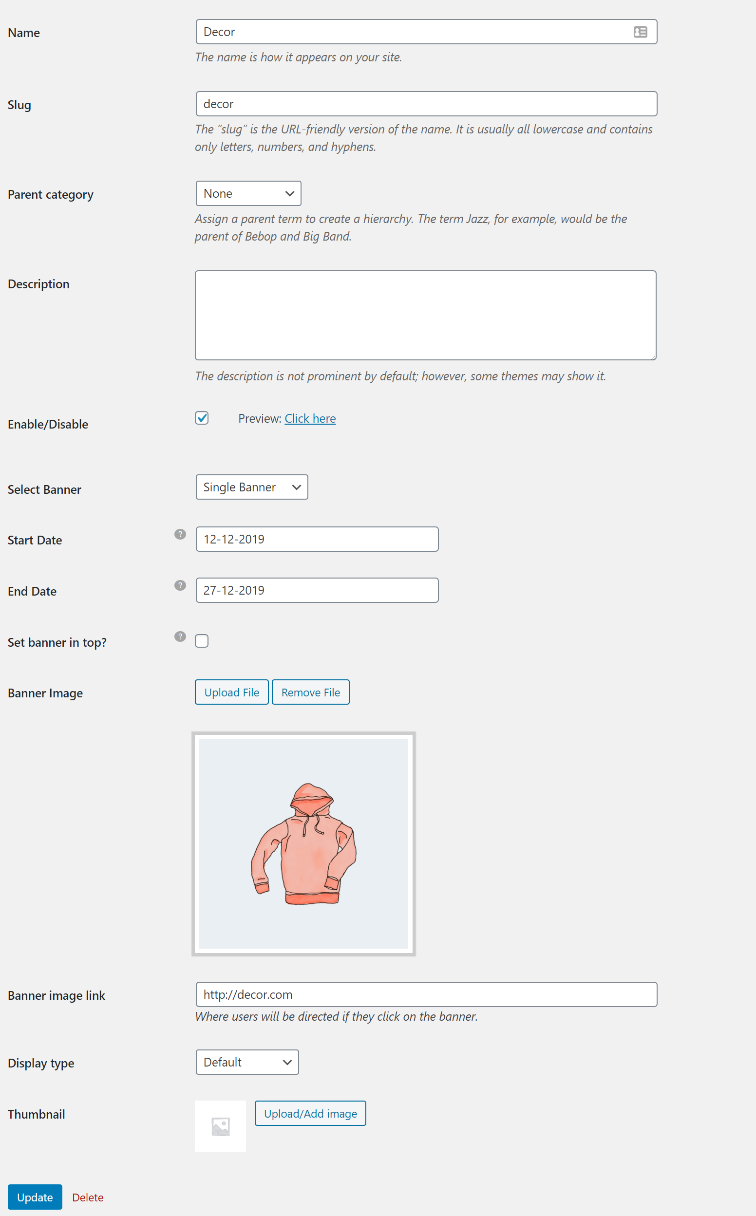 Introduction of  WooCommerce Category Banner Management