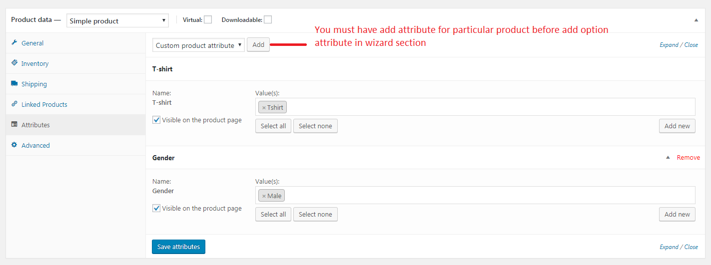 How to configure the wizard