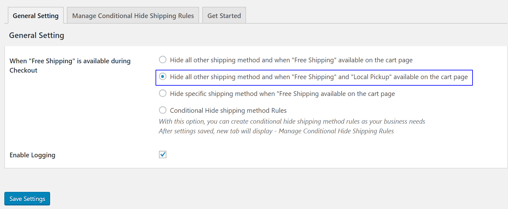 How to hide all other shipping methods when Free Shipping and Local Pickup available on the cart page