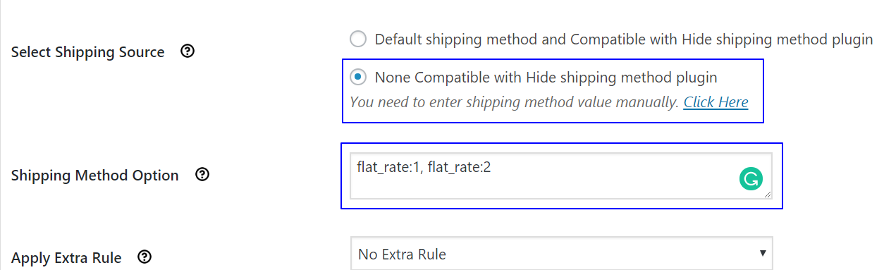 How to hide incompatible shipping methods
