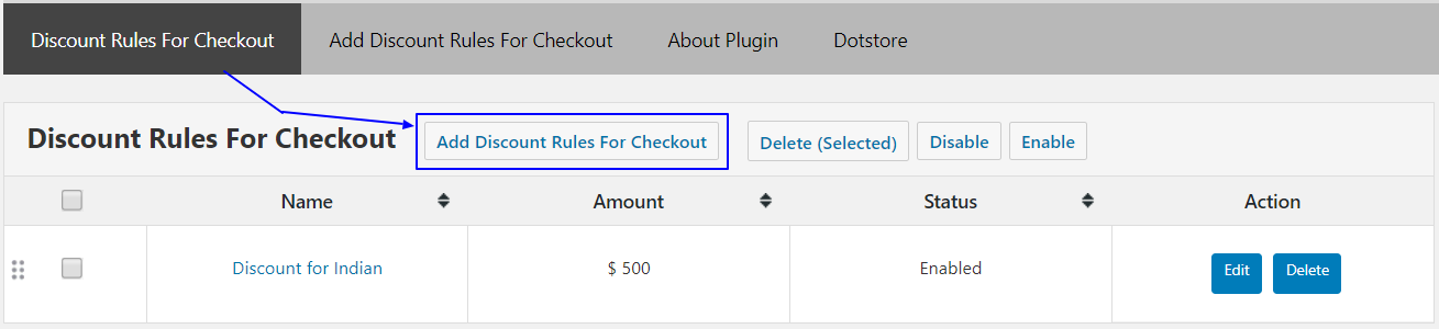 Adding Discount Rules for Checkout