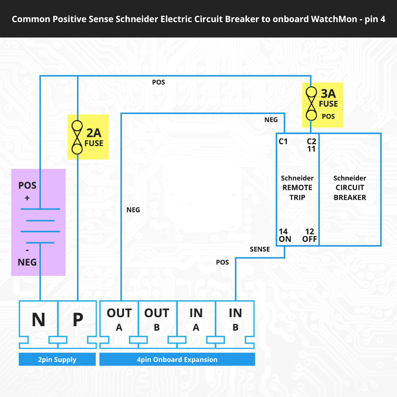 [SCHEMATICS_4NL]  Wiring the Schneider Circuit Breaker to On-Board Output on the WatchMon  Supervisor - Batrium Knowledge Base   Breaker Wiring Diagram      Support - Batrium