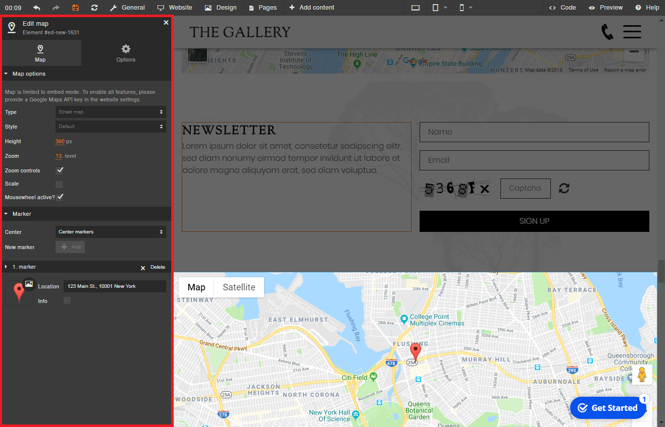 Elements Add A Map Sitejet Help