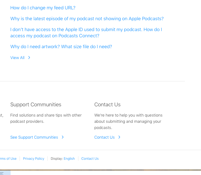 iTunes Partner - Support