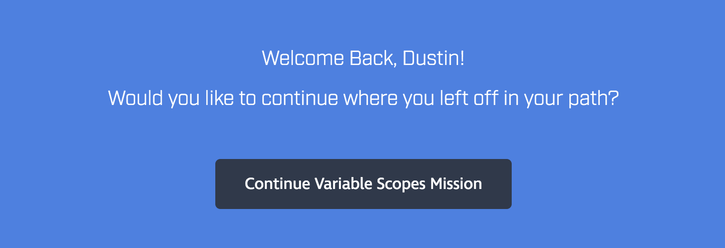 The dashboard is saying I'm still on a mission I've completed