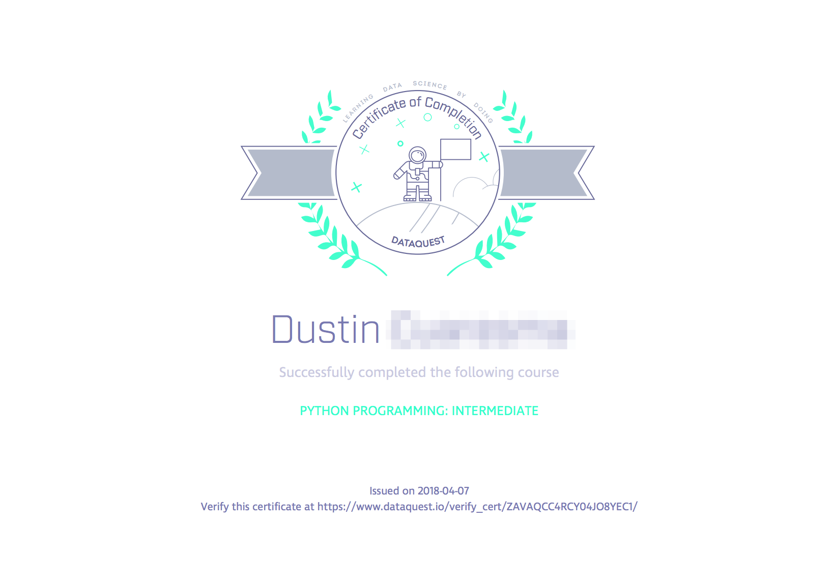 Do you have certificates of completion? - Dataquest