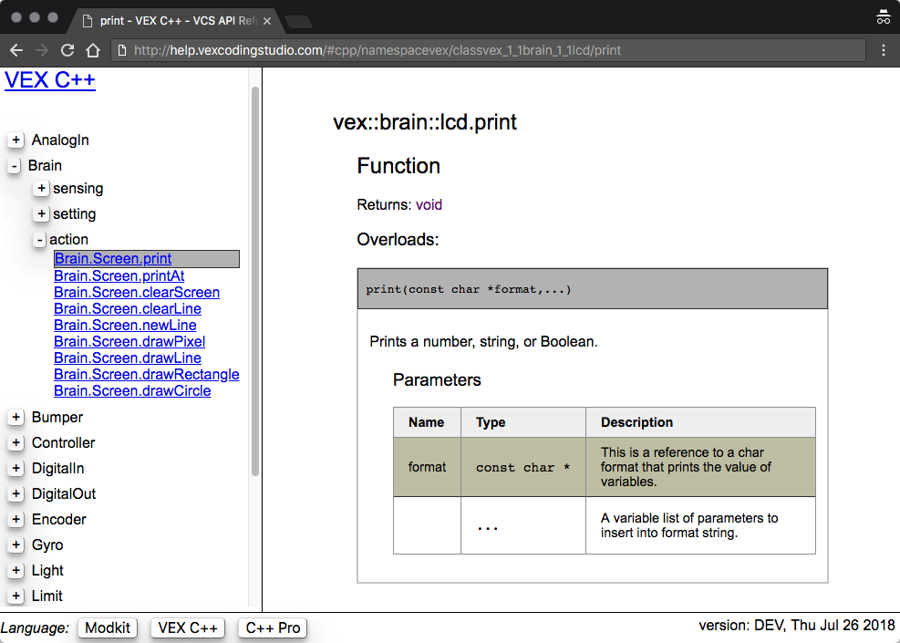 How to Find Documentation for Programming in VEX Coding Studio - VEX