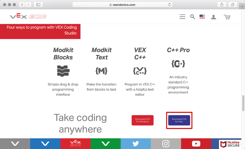 How To Install Vex Coding Studio For Macos Vex Robotics Knowledge Base