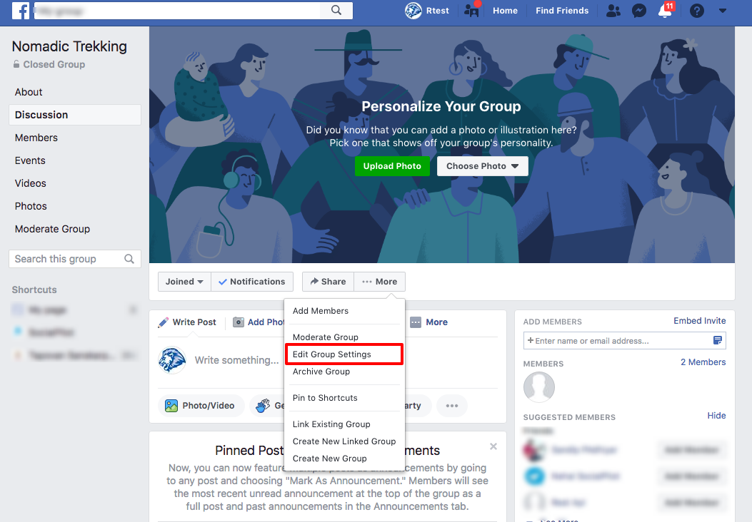 How to authorize SocialPilot to post on Facebook Group