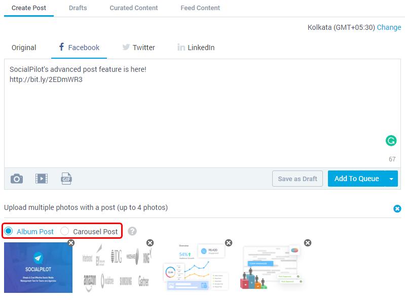How can I customize post for Facebook? - SocialPilot Help