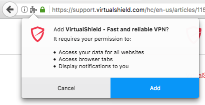 Install the Firefox Extension - VirtualShield Knowledge Base