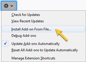 How do I install the Firefox extension manually