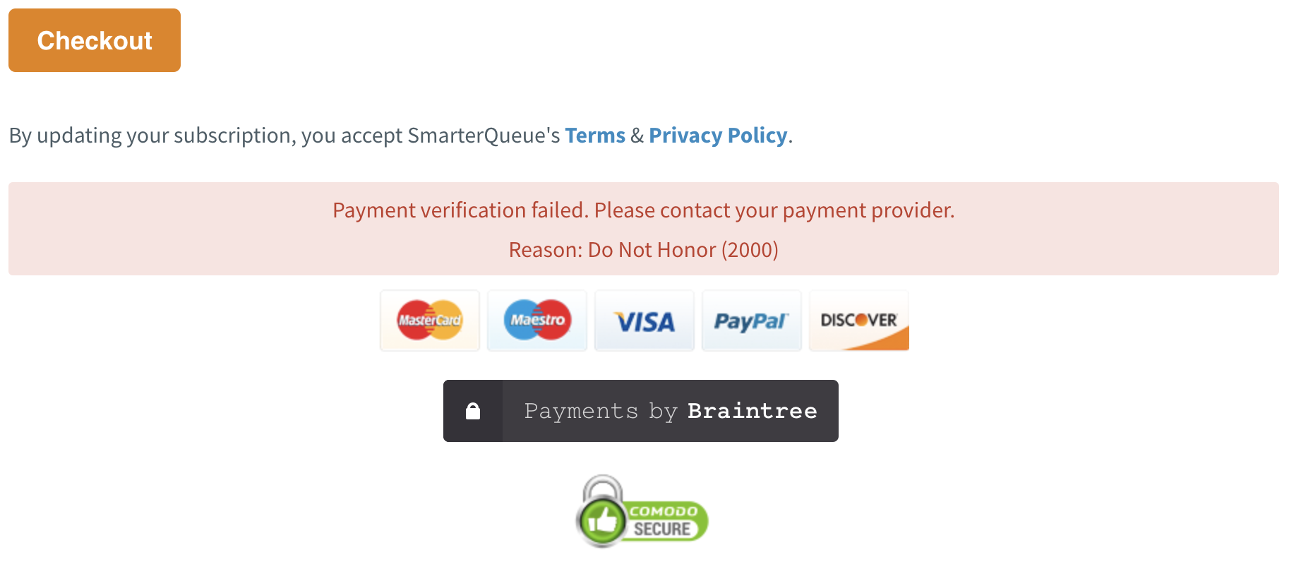 How To Resolve Payment Issues - SmarterQueue Support