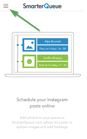 how to switch between instagram profiles on the smarterqueue mobile app smarterqueue help center switch between instagram profiles