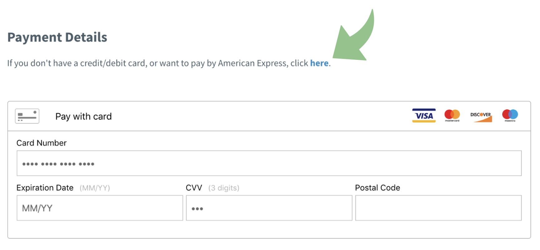 File Check Out Card how to pay with american express or paypal - smarterqueue