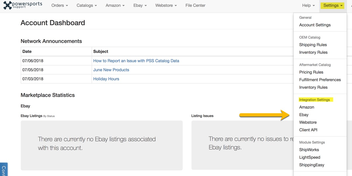 Connect Pss To Your Ebay Store Powersports Support Knowledge Base