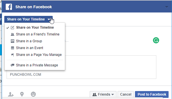 Next, select the Invite Facebook Friends button, and you'll be able to share in a few different ways.