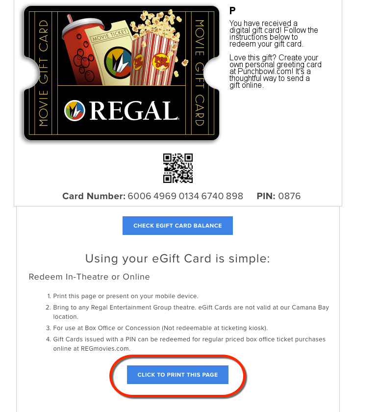 Regal Cinemas Gift Card Balance Check Lamoureph Blog