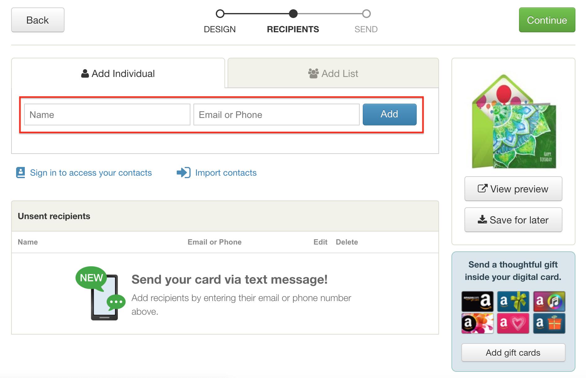 Can I Send A Digital Card Through Text Message