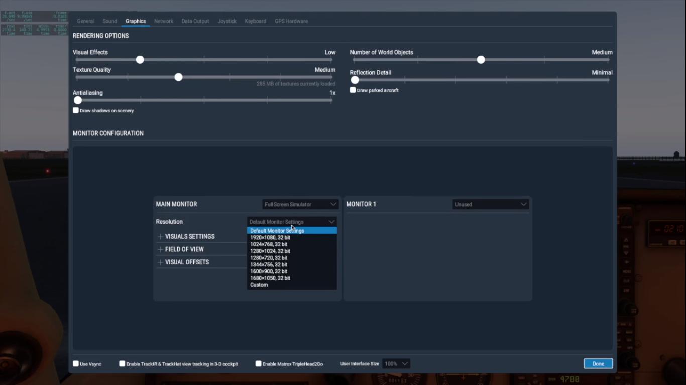 X plane graphics interface file