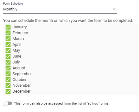 Monthly Scheduling