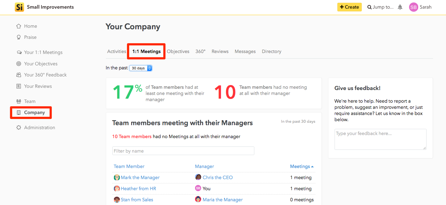 Using 1:1 Meetings - Small Improvements