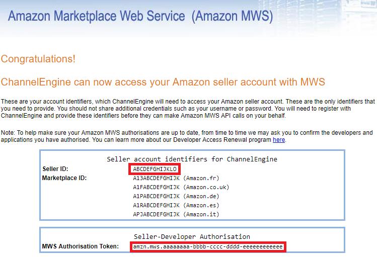 Amazon EU marketplace - ChannelEngine Help