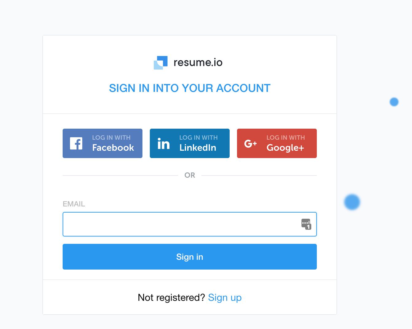 How do I log in to Resume io? - FAQ · Resume io