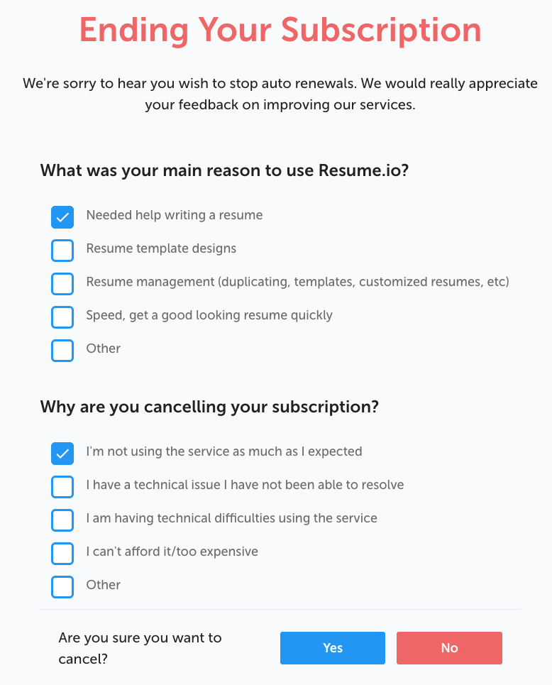 How Do I Cancel Downgrade Or Delete My Account Faq Resume Io